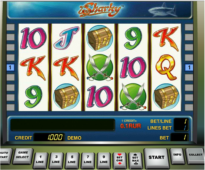 Sharky online slot - 155 GAMES